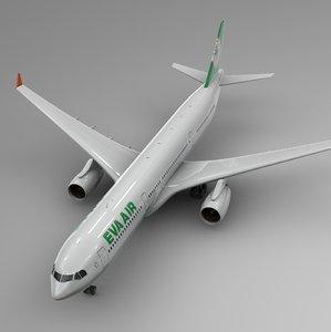 airbus a330-300 eva air 3D model