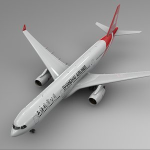 3D model airbus a330-300 shanghai airlines