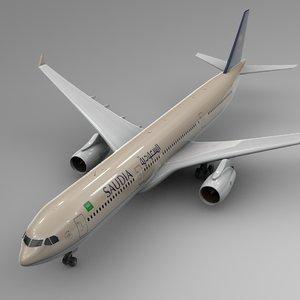 airbus a330-300 saudia l370 3D model
