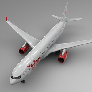 airbus a330-300 lion air 3D model