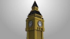 3D london big ben model