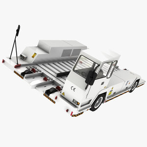 realistic airport container transporter 3D model