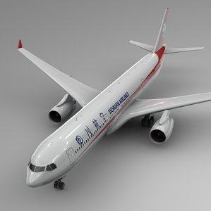 airbus a330-300 sichuan airlines 3D model