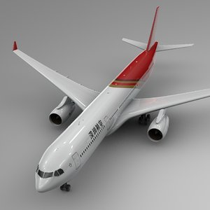 3D airbus a330-300 shenzhen airlines model