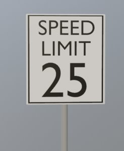 speed signs 3D model