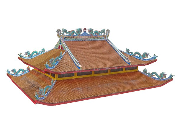 dragon roofs temple 3D model