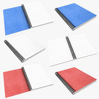 3D notebook open scanline