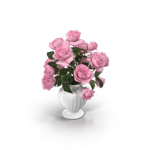 3D model flower bouquet rose