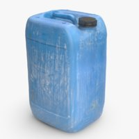 3D plastic dirty jerrycan contains