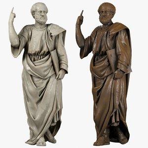 aristoteles sculpture 3d model