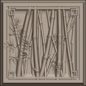 bamboo relief 3D model