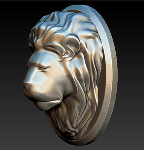 3D model lion face printing