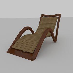3D sun loungers