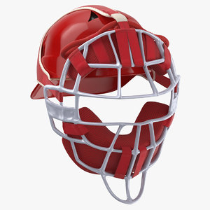 3D baseball catcher mask model