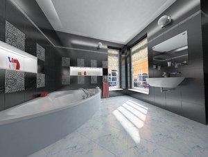 simple bathroom interior design 3D