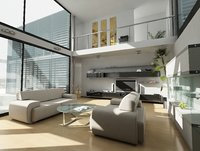 2 Storey Home Living Room Design