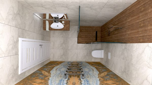 bathrooms design 3D model