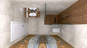 bathrooms design 3D model