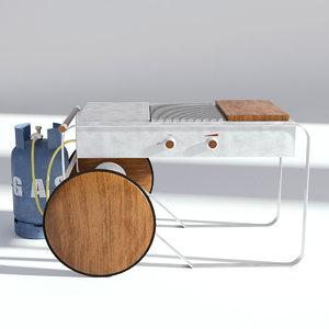grill gas bbq 3D model