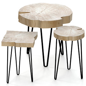 3D slab table coffee