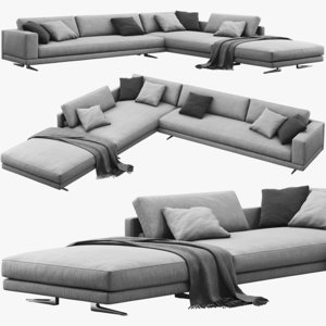 poliform mondrian corner sofa 3D model