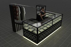 kiosk podium 3D