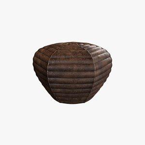 3D fogia - litten pouff