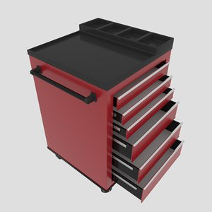3D workshop service trolley1 trolley model