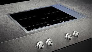 gaggenau cooktop vi462111 vl414111 3D model