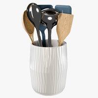 3D realistic chefn utensils