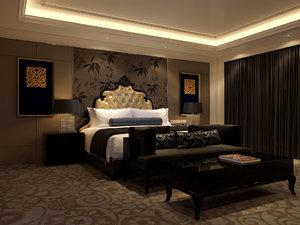 bed bedroom model