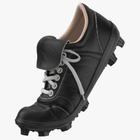 baseball cleats bent black 3D model