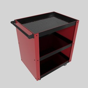 workshop service trolley2 trolley 3D model