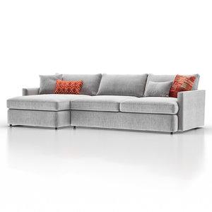 3D model lounge ii petite outdoor
