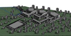 3D modeled university project architecture