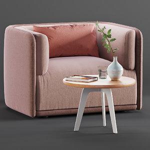 millepiedi coffee table sho 3D model