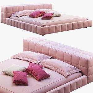 bonaldo squaring bed 3D