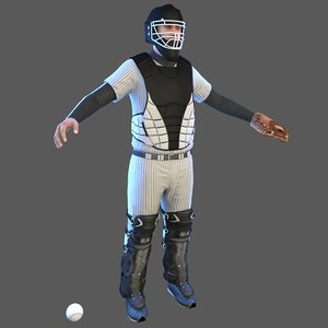 baseball player ball model