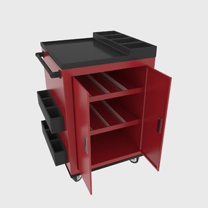 3D model workshop service trolley
