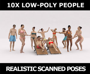 3D scanned people casual