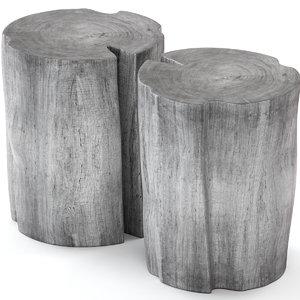 slab table stump model