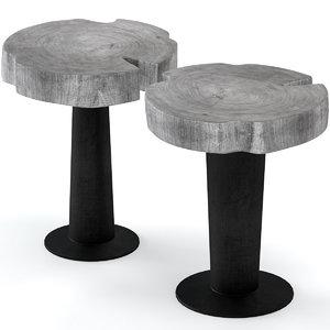 3D slab table coffee stump