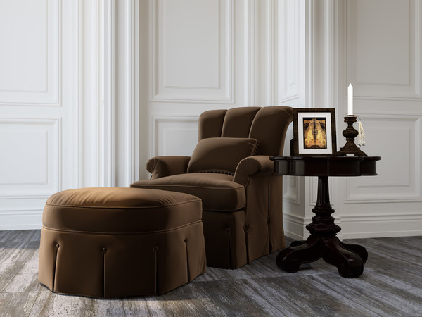 armchair photorealistic 3D model