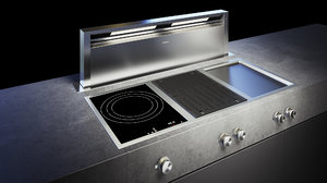 gaggenau 400 grill cooktop 3D model
