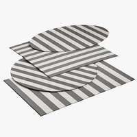 realistic striped dhurrie rugs 3D