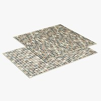 3D realistic geometric rugs
