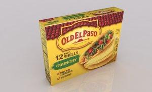 taco shells box 3D model