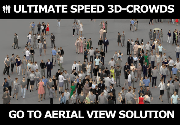 3D model ultimate speed crowds people