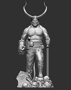 3D hellboy files stl model