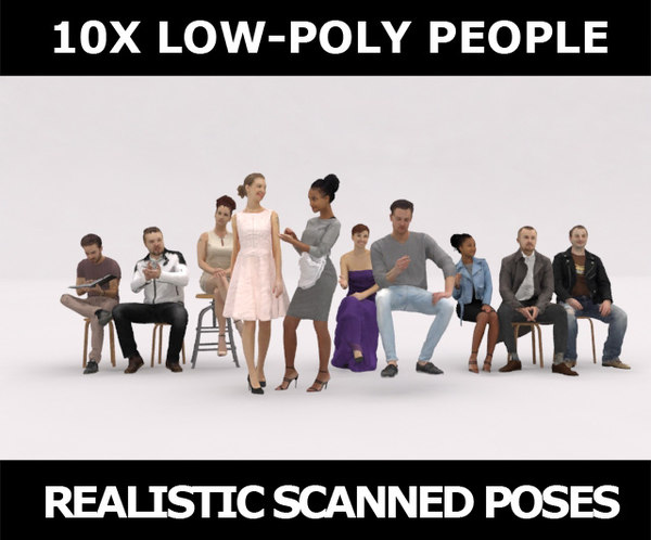 scanned people casual 3D